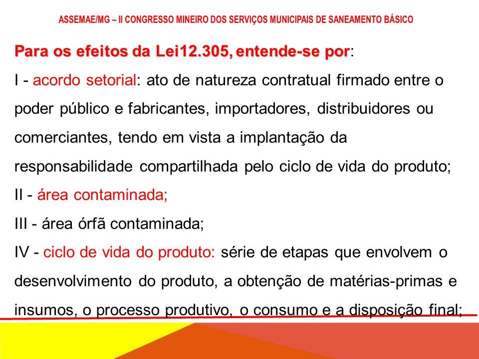 RESPONSABILIDADE COMPARTILHADA LOGÍSTICA REVERSA ACORDO SETORIAL CICLO DE VIDA DO PRODUTO NOVOS PARADIGAMAS
