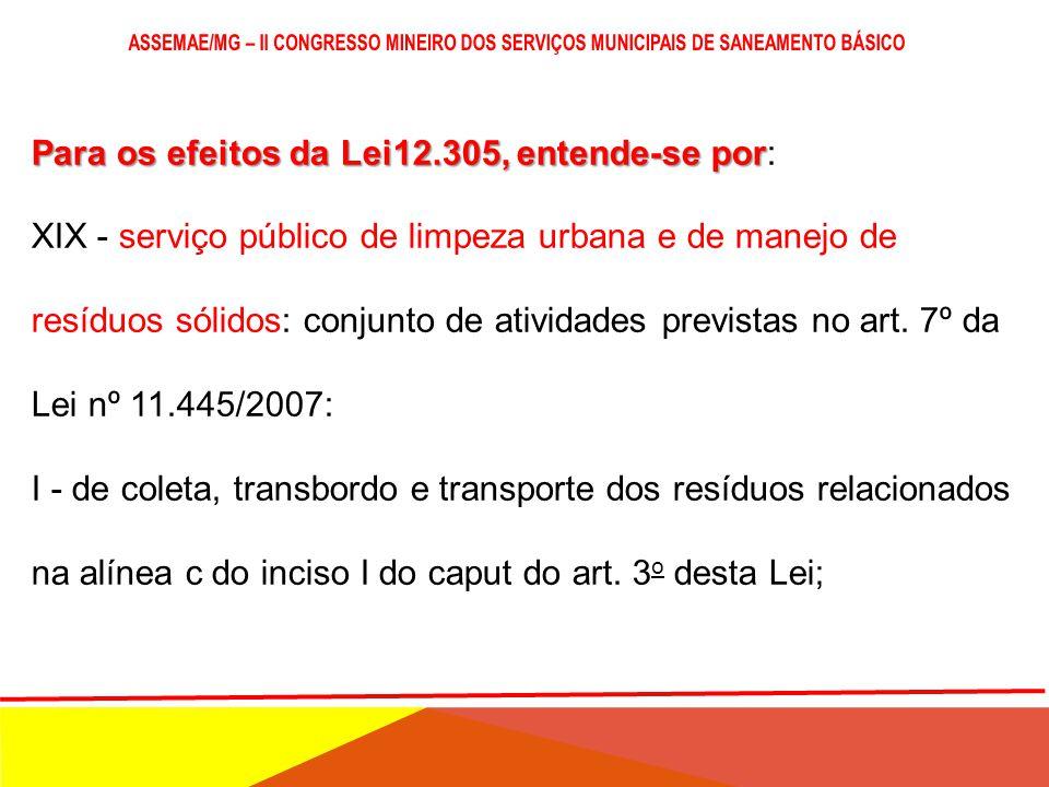 Para os efeitos da Lei12.305, entende-se por Para os efeitos da Lei12.305, entende-se por: XVIII - reutilização: processo de aproveitamento dos resídu
