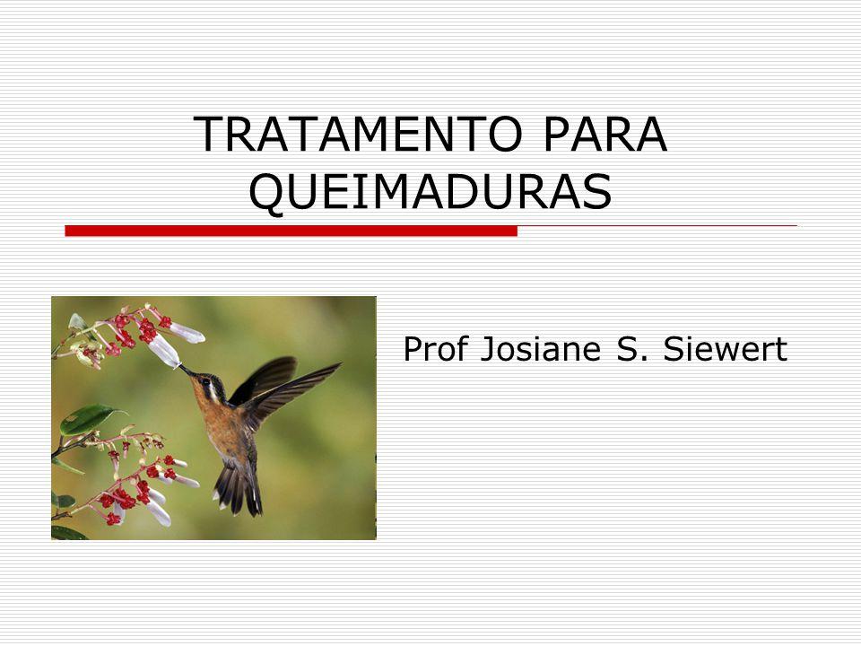 TRATAMENTO PARA QUEIMADURAS Prof Josiane S. Siewert
