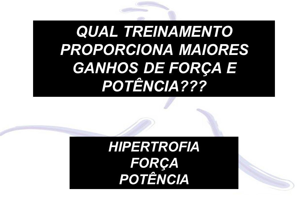 QUAL TREINAMENTO PROPORCIONA MAIORES GANHOS DE FORÇA E POTÊNCIA??? HIPERTROFIA FORÇA POTÊNCIA