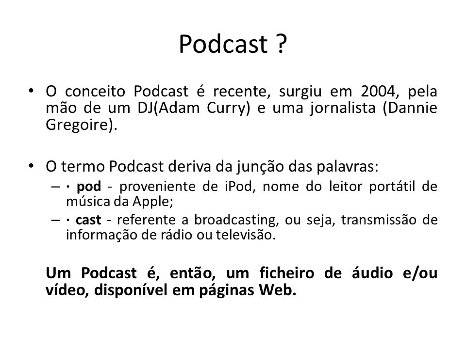 Podcast .