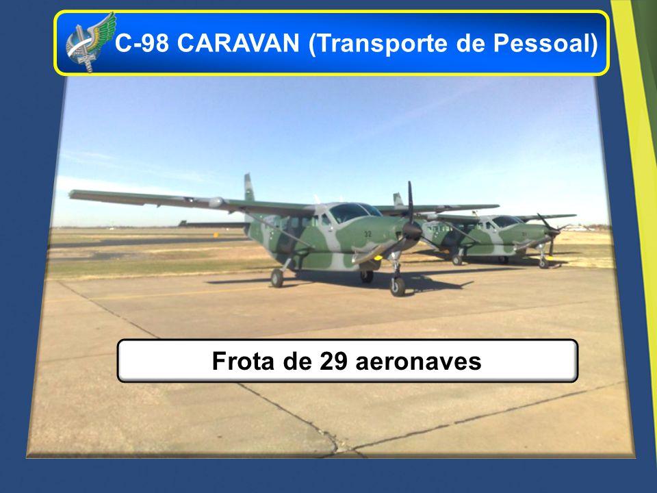 Frota de 29 aeronaves C-98 CARAVAN (Transporte de Pessoal)