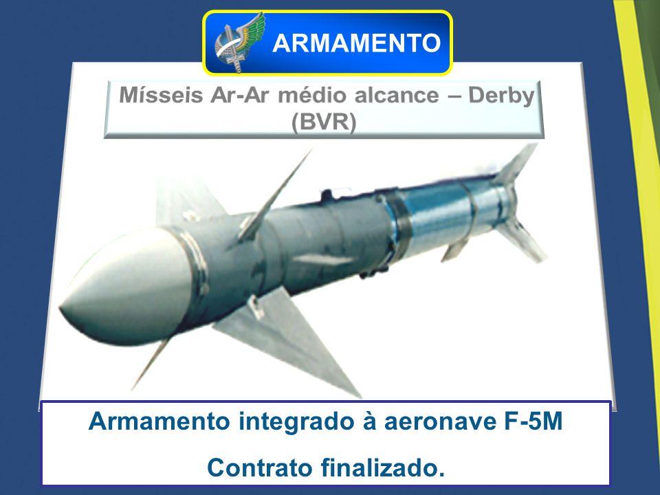 Armamento integrado à aeronave F-5M Contrato finalizado. ARMAMENTO