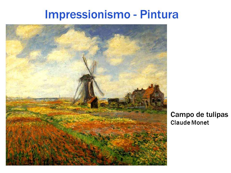 Impressionismo - Pintura Campo de tulipas Claude Monet
