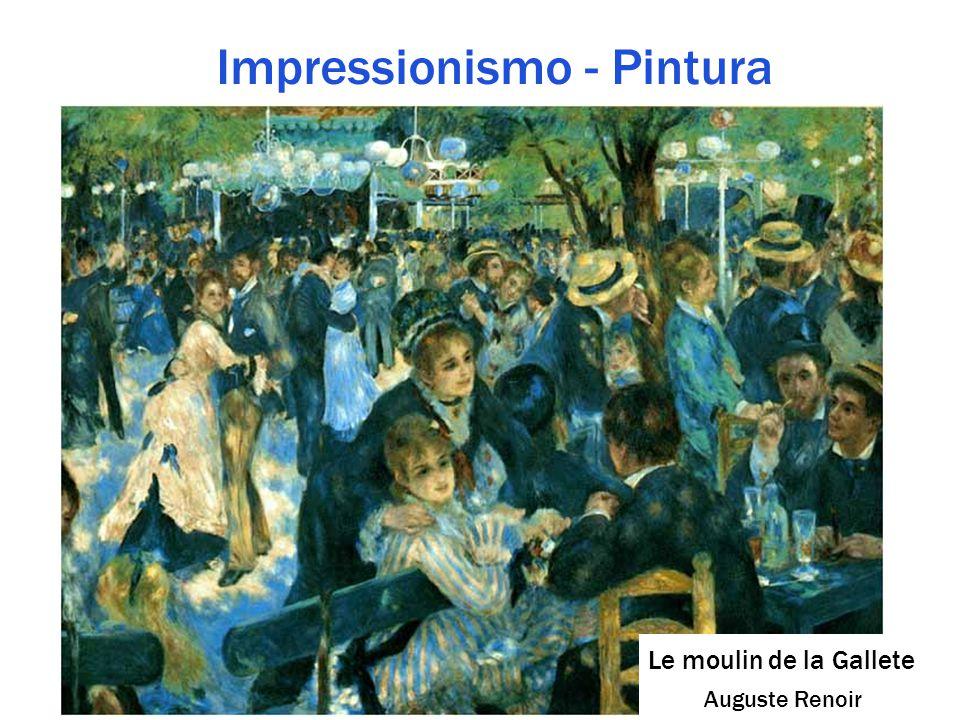Impressionismo - Pintura Le moulin de la Gallete Auguste Renoir