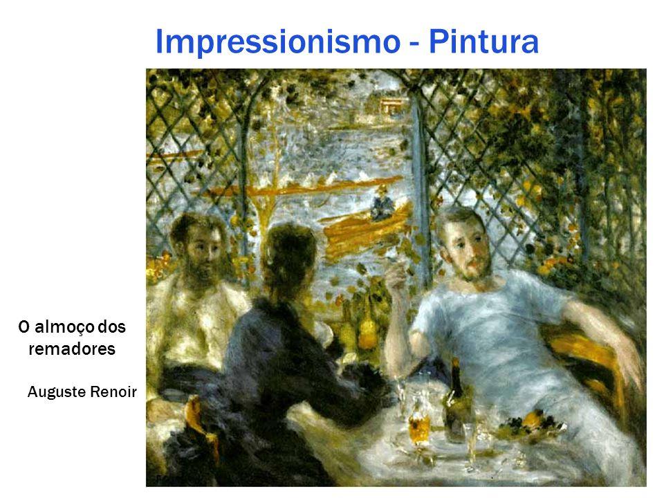 Impressionismo - Pintura O almoço dos remadores Auguste Renoir
