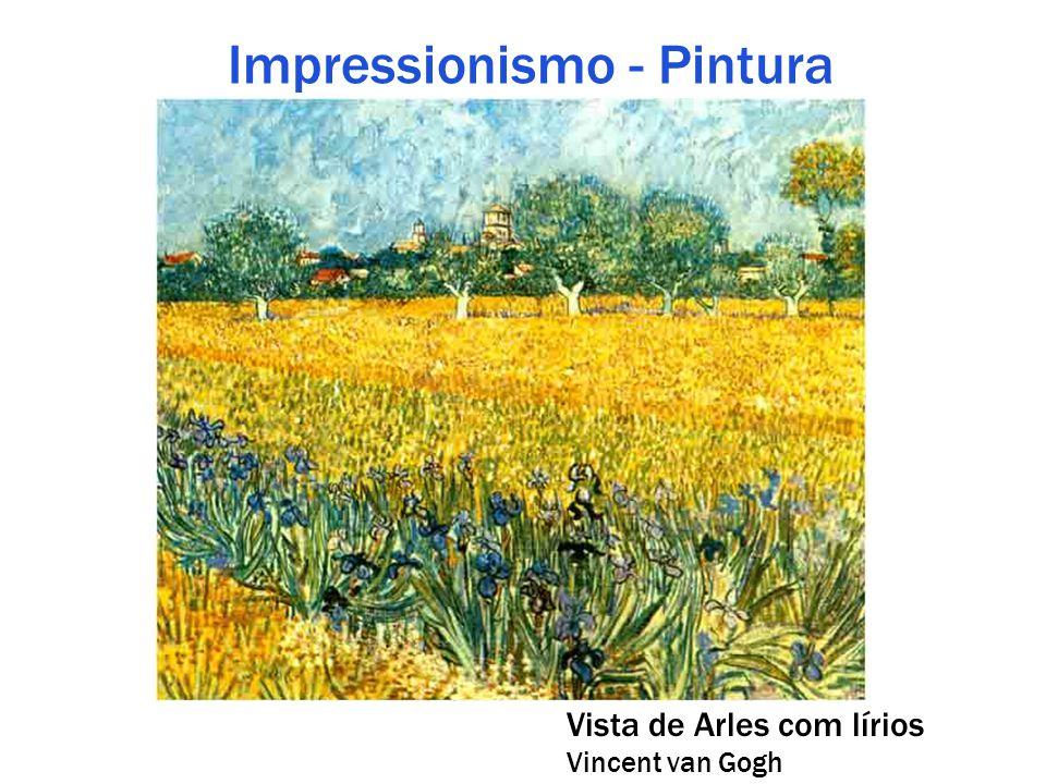 Impressionismo - Pintura Vista de Arles com lírios Vincent van Gogh