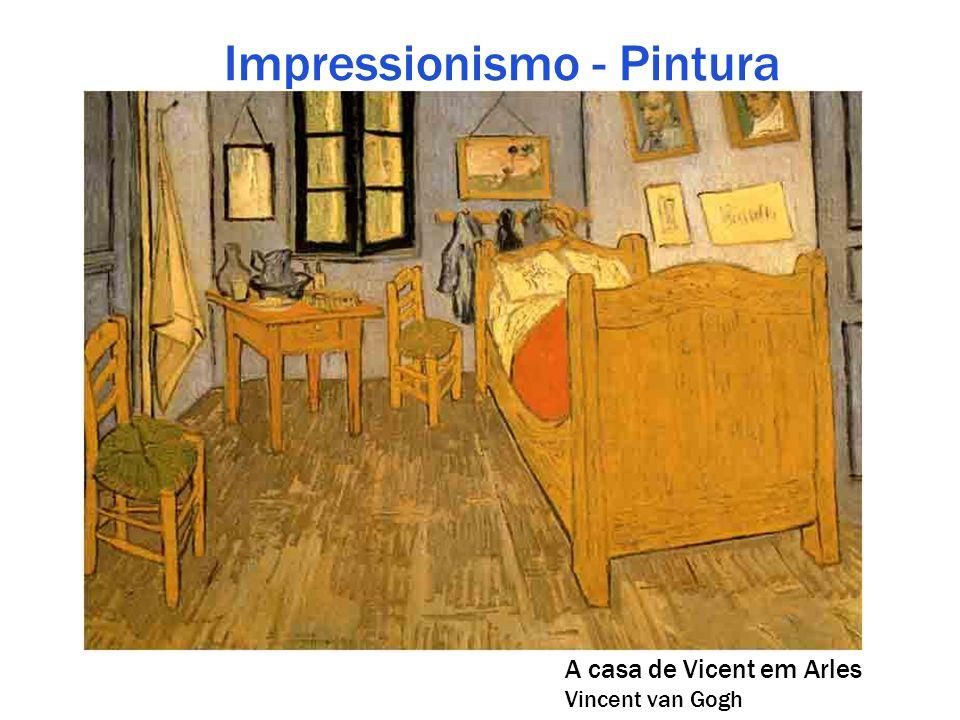 Impressionismo - Pintura A casa de Vicent em Arles Vincent van Gogh