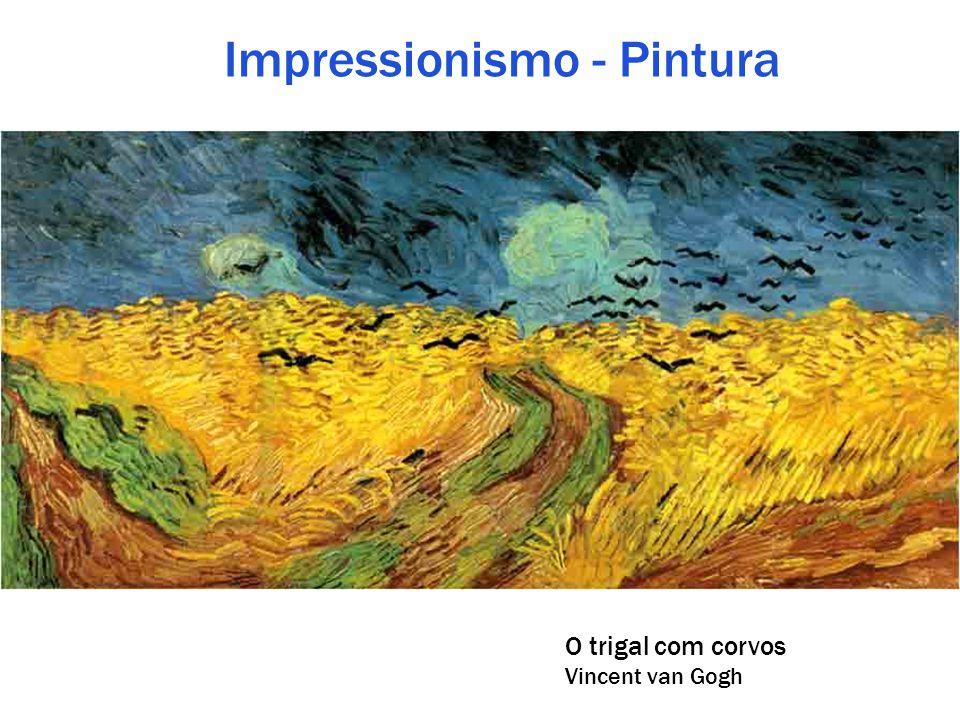 Impressionismo - Pintura O trigal com corvos Vincent van Gogh