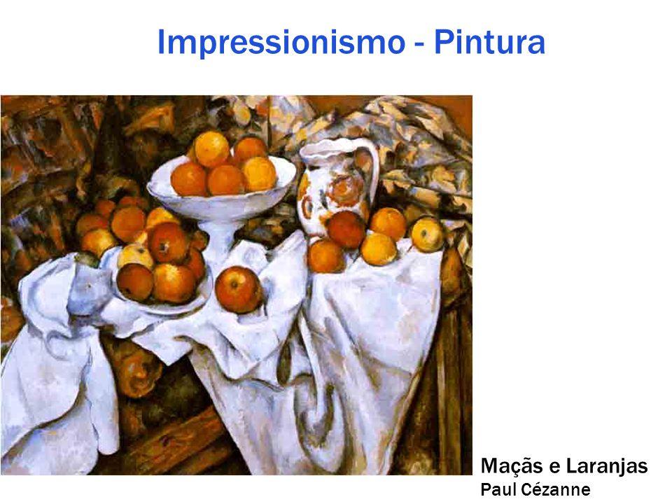 Impressionismo - Pintura Maçãs e Laranjas Paul Cézanne