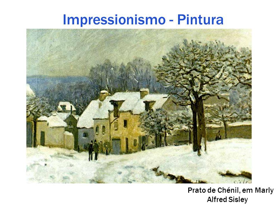 Impressionismo - Pintura Prato de Chénil, em Marly Alfred Sisley