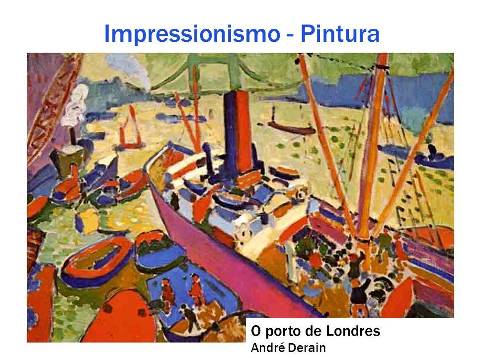 Impressionismo - Pintura O porto de Londres André Derain