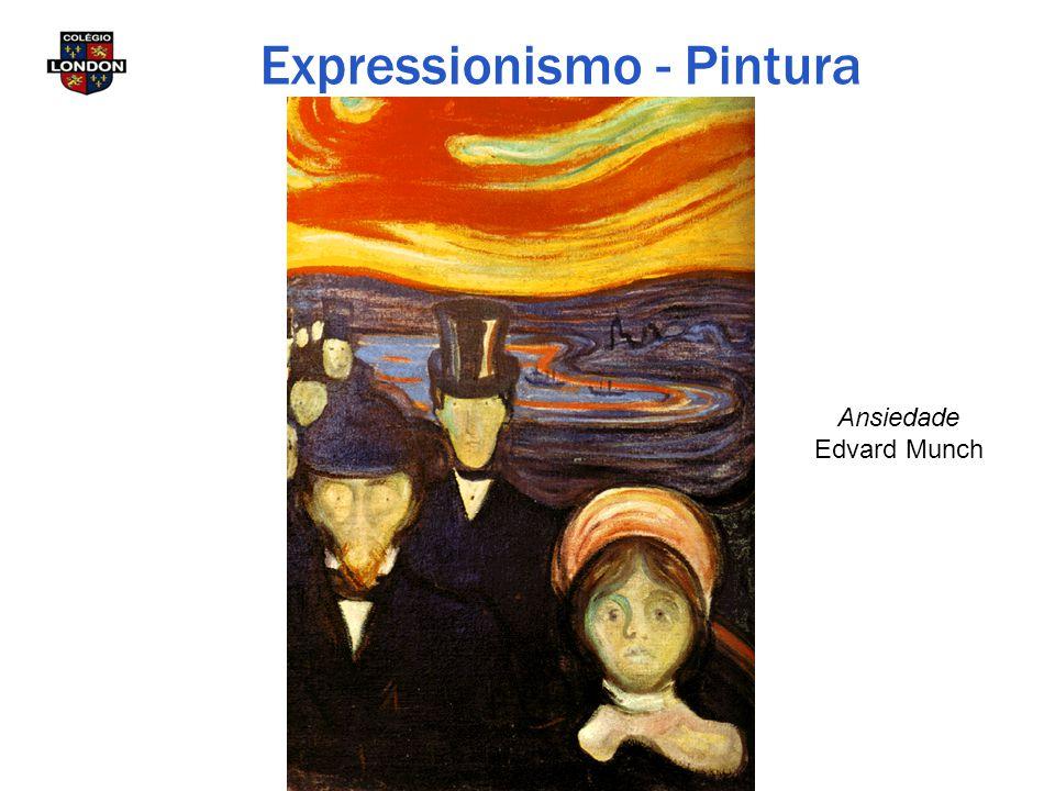 Ansiedade Edvard Munch Expressionismo - Pintura
