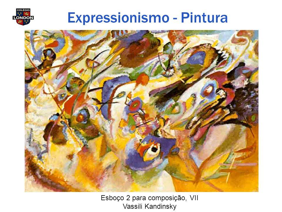 Esboço 2 para composição, VII Vassili Kandinsky Expressionismo - Pintura
