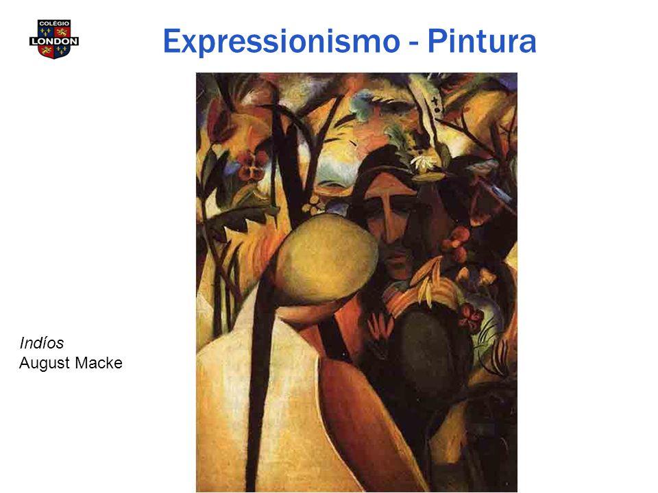 Indíos August Macke Expressionismo - Pintura