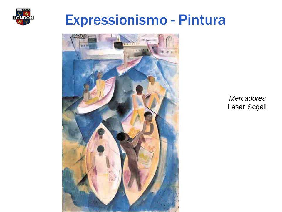 Mercadores Lasar Segall Expressionismo - Pintura