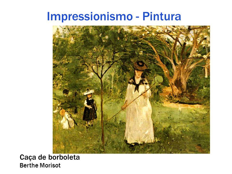 Impressionismo - Pintura Caça de borboleta Berthe Morisot