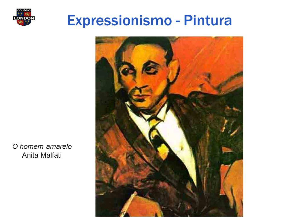 O homem amarelo Anita Malfati Expressionismo - Pintura