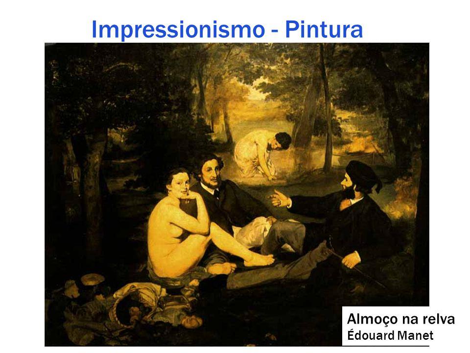 Impressionismo - Pintura Almoço na relva Édouard Manet