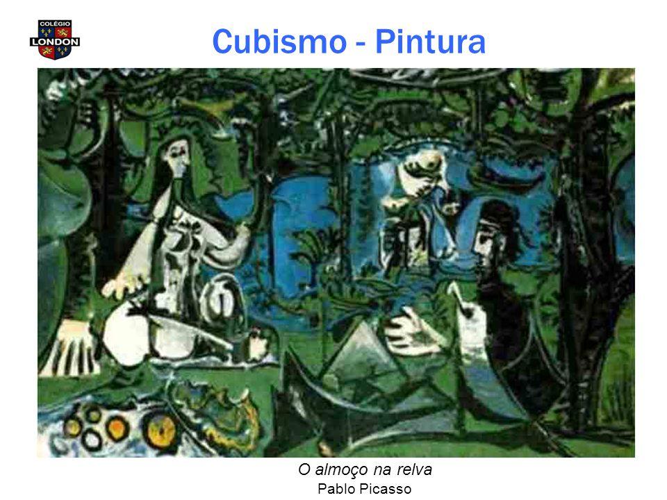 O almoço na relva Pablo Picasso Cubismo - Pintura