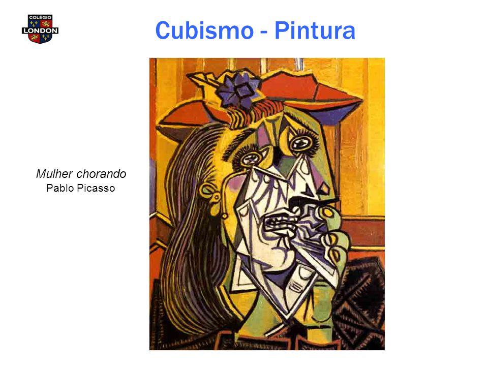Mulher chorando Pablo Picasso Cubismo - Pintura