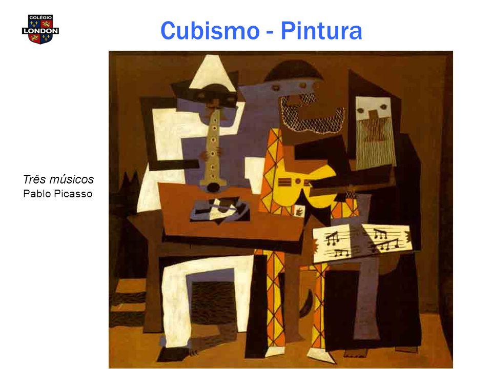Três músicos Pablo Picasso Cubismo - Pintura