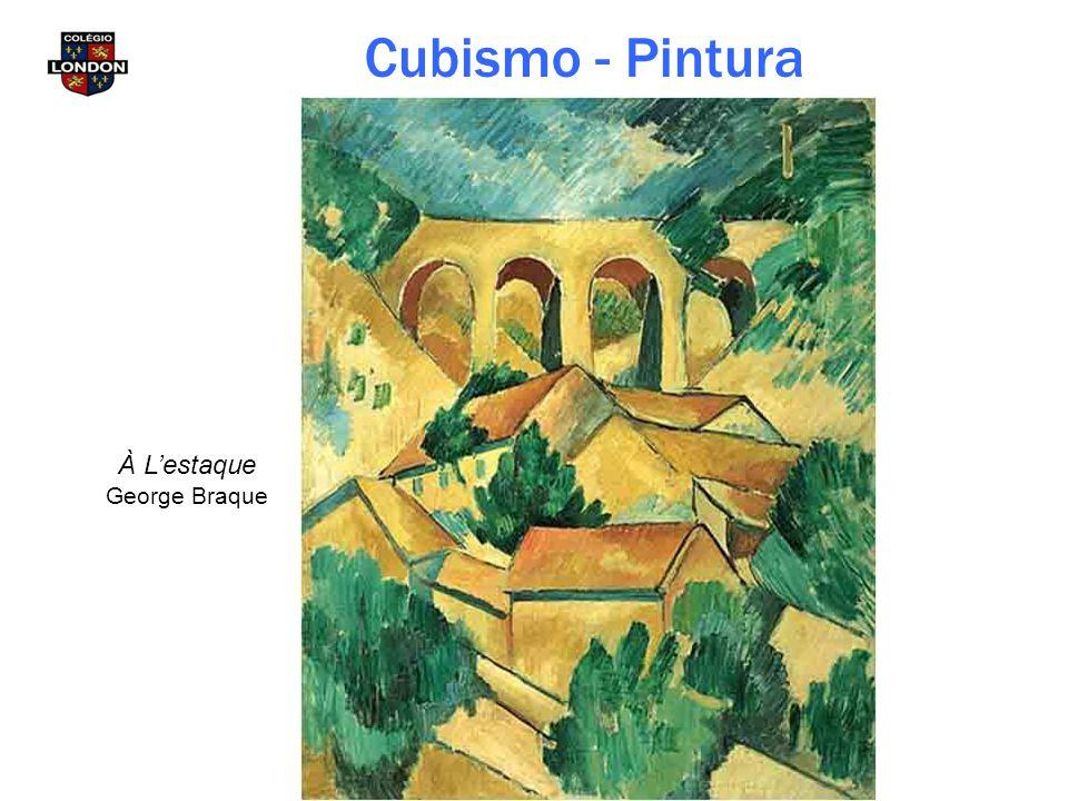 À L'estaque George Braque Cubismo - Pintura