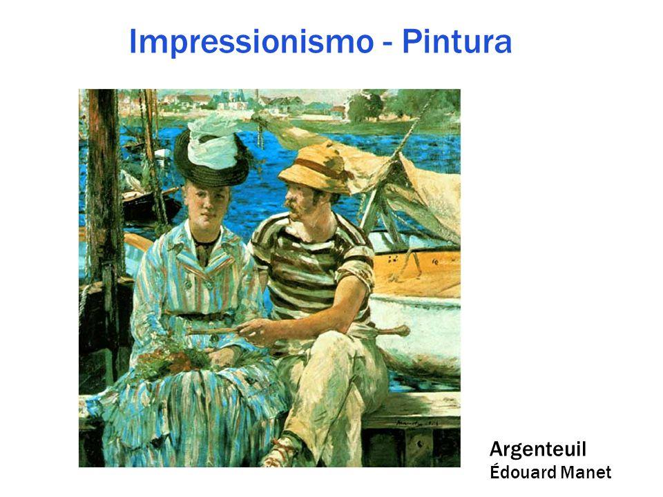 Impressionismo - Pintura Argenteuil Édouard Manet