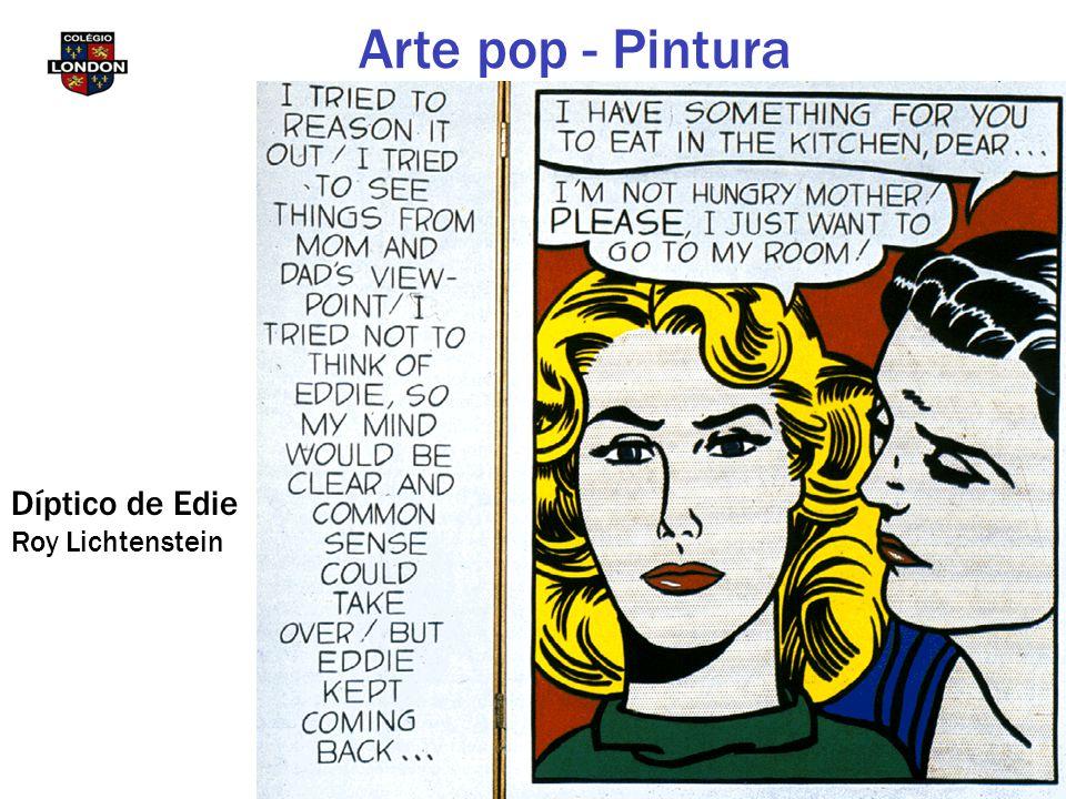 Díptico de Edie Roy Lichtenstein Arte pop - Pintura