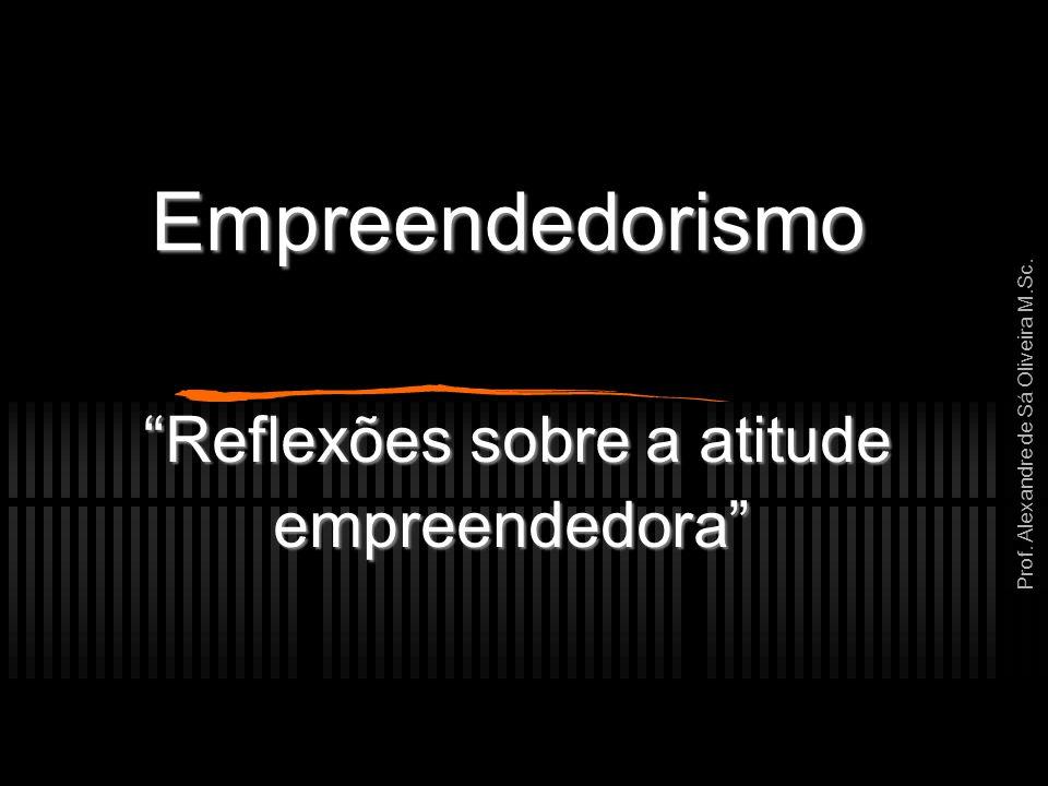 """Prof. Alexandre de Sá Oliveira M.Sc. Empreendedorismo """"Reflexões sobre a atitude empreendedora"""""""