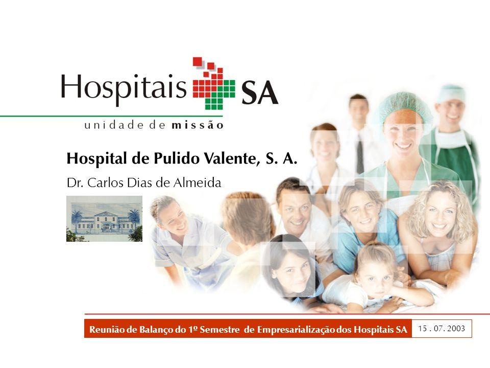 Balanço do 1º Semestre dos Hospitais SA 12 CONSULTA EXTERNA Um desafio