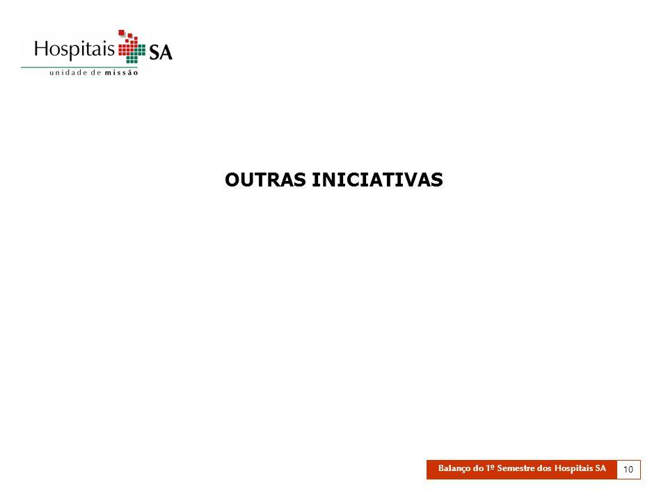 Balanço do 1º Semestre dos Hospitais SA 10 OUTRAS INICIATIVAS