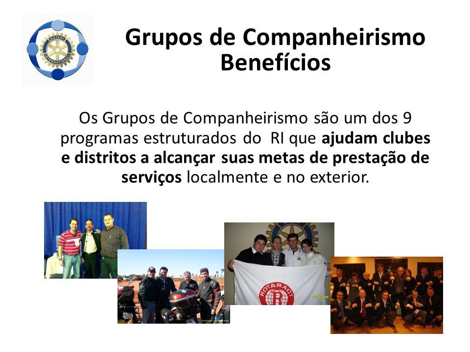 Os Grupos de Companheirismo são um dos 9 programas estruturados do RI que ajudam clubes e distritos a alcançar suas metas de prestação de serviços loc