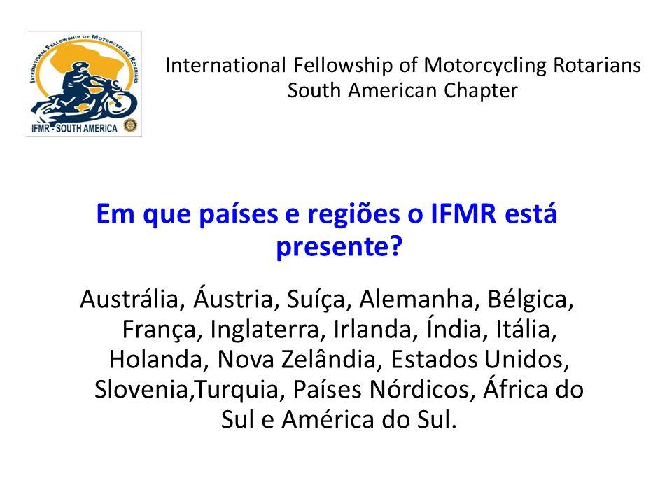 Em que países e regiões o IFMR está presente? Austrália, Áustria, Suíça, Alemanha, Bélgica, França, Inglaterra, Irlanda, Índia, Itália, Holanda, Nova