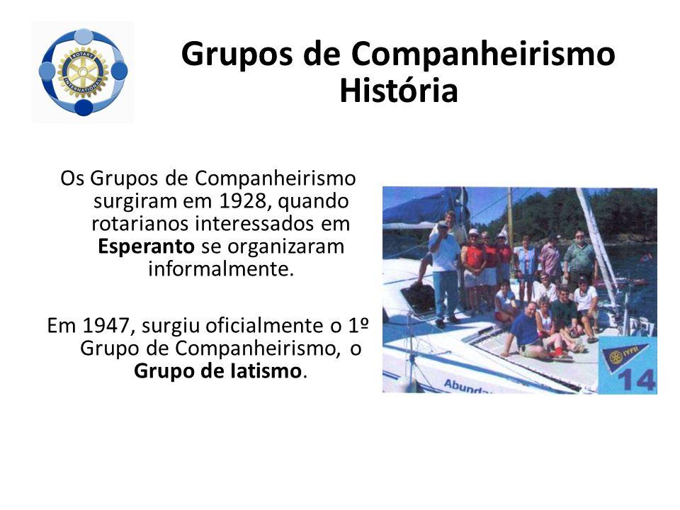 Os Grupos de Companheirismo surgiram em 1928, quando rotarianos interessados em Esperanto se organizaram informalmente. Em 1947, surgiu oficialmente o