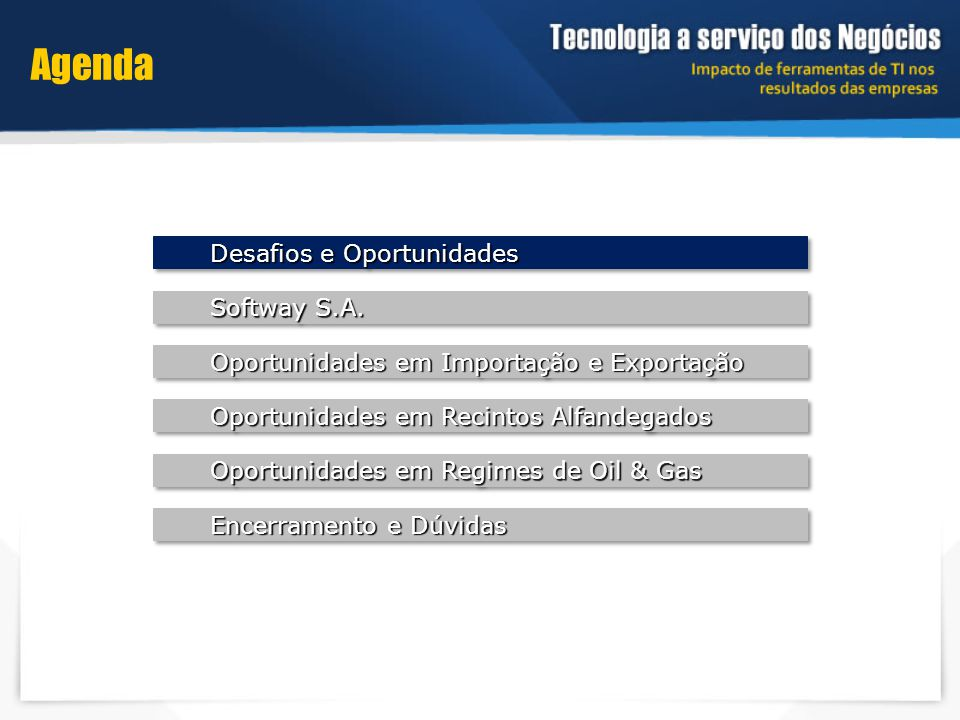 Oportunidades em Importação e Exportação Sistemas Softway: