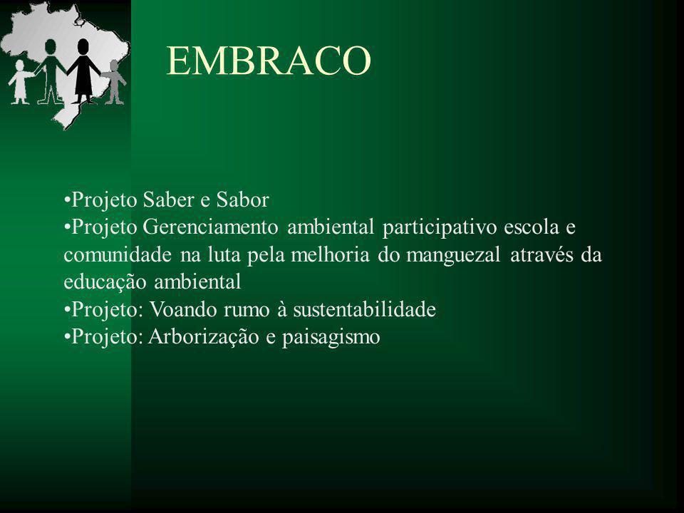 EMBRACO Projeto Saber e Sabor Projeto Gerenciamento ambiental participativo escola e comunidade na luta pela melhoria do manguezal através da educação