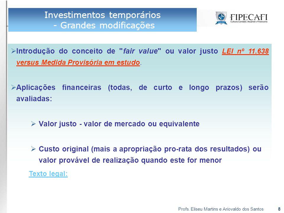 Profs.Eliseu Martins e Ariovaldo dos Santos19 Reserva de Incentivos Fiscais  Texto legal: Art.