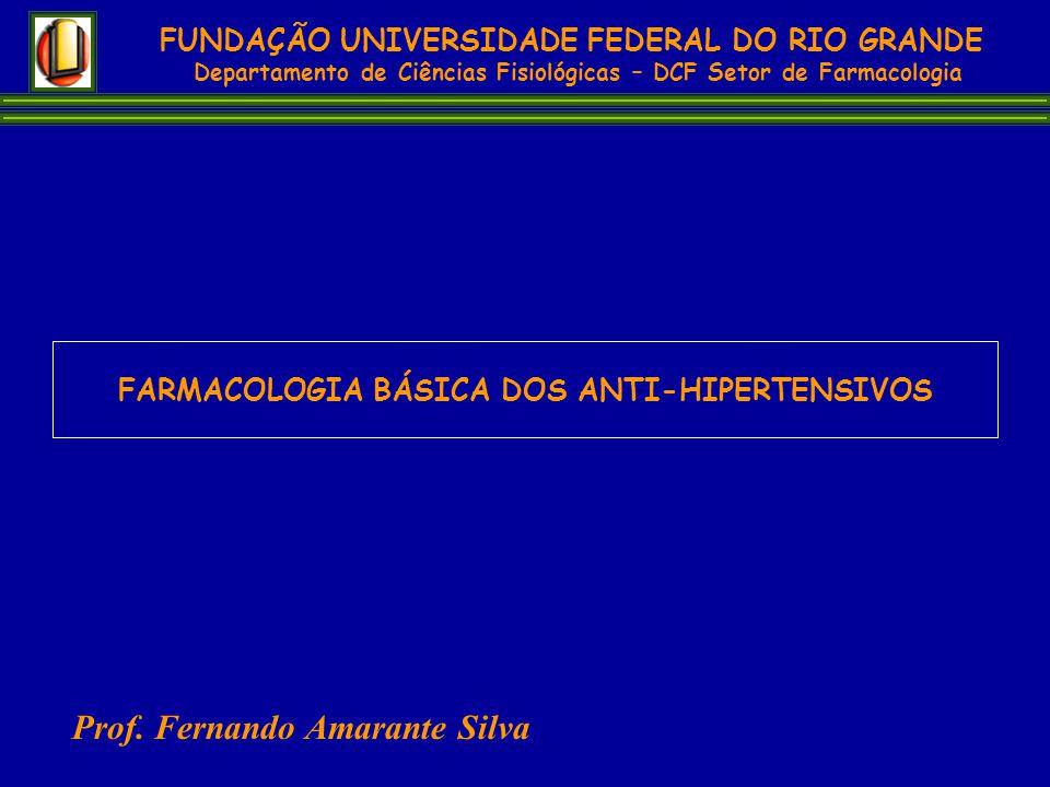 FUNDAÇÃO UNIVERSIDADE FEDERAL DO RIO GRANDE Departamento de Ciências Fisiológicas – DCF Setor de Farmacologia Prof. Fernando Amarante Silva FARMACOLOG