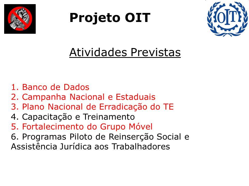 Atividades Previstas 1. Banco de Dados 2. Campanha Nacional e Estaduais 3.