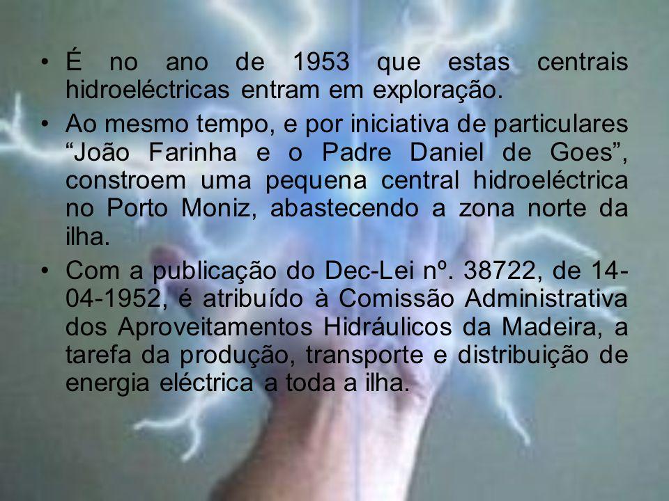 É no ano de 1953 que estas centrais hidroeléctricas entram em exploração.