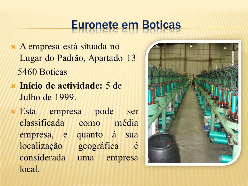  A empresa está situada no Lugar do Padrão, Apartado 13 5460 Boticas  Início de actividade: 5 de Julho de 1999.