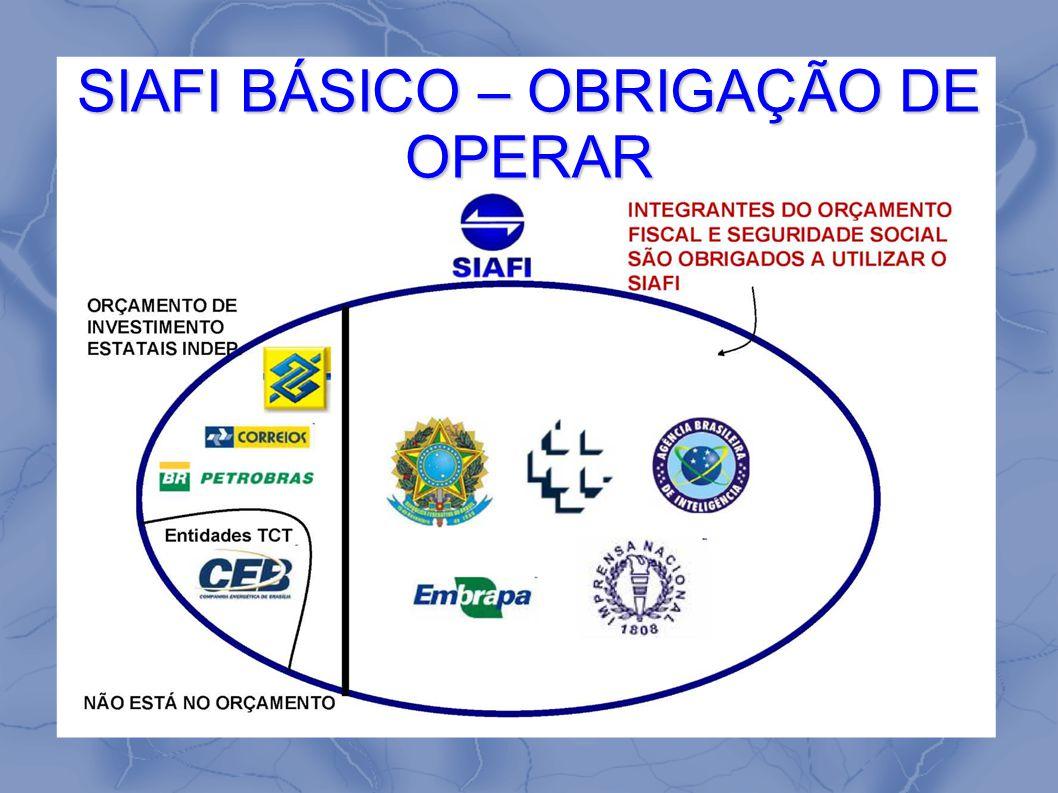 SIAFI BÁSICO – OBRIGAÇÃO DE OPERAR