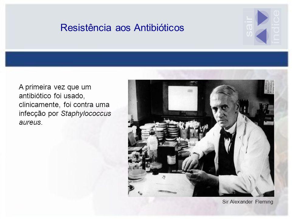 Resistência aos Antibióticos Sir Alexander Fleming A primeira vez que um antibiótico foi usado, clinicamente, foi contra uma infecção por Staphylococc
