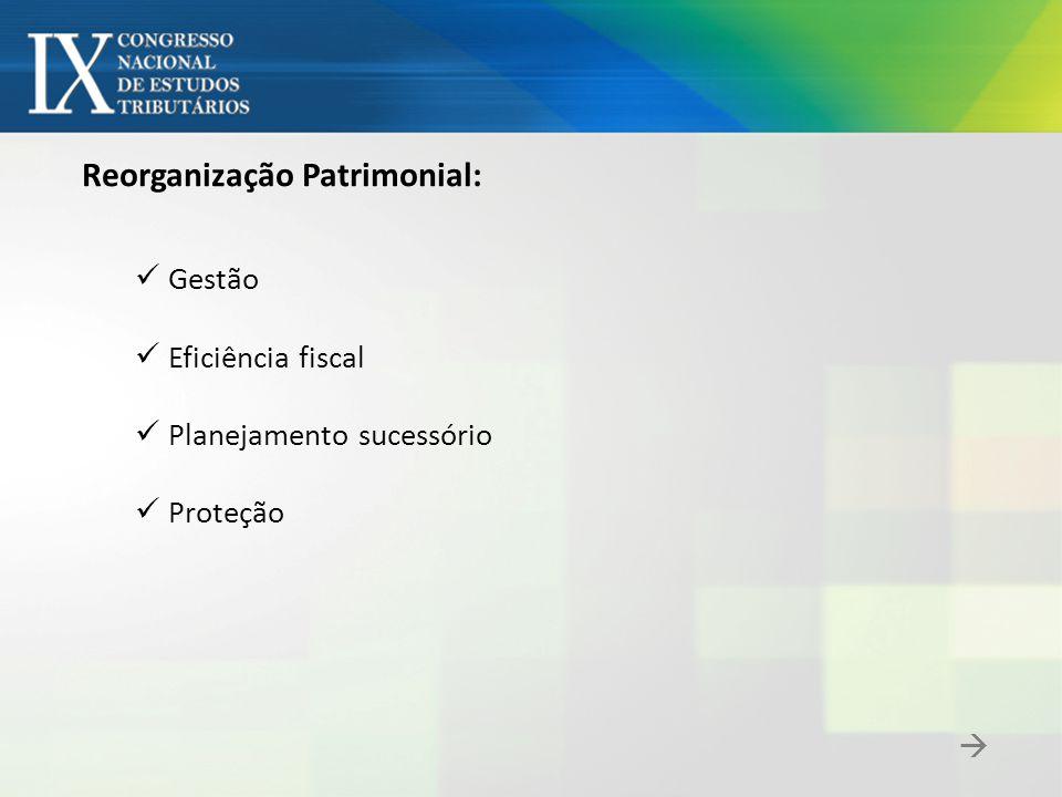 restituição Formação da holding: Conferência + Redução de Capital holding indivíduo p.