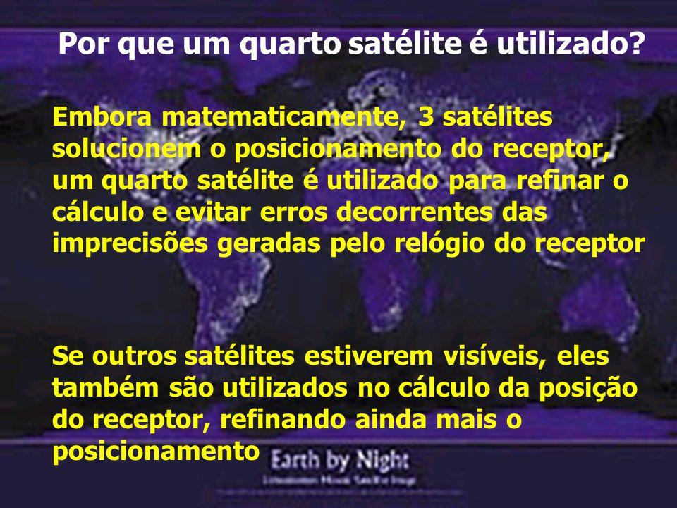 Por que um quarto satélite é utilizado.