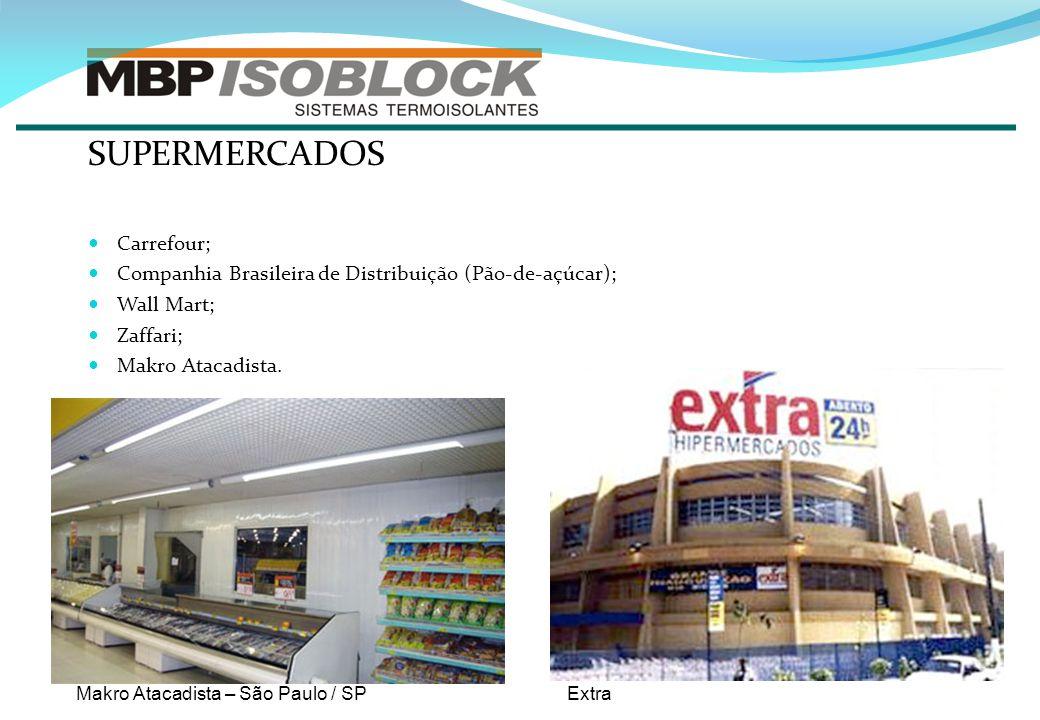 SUPERMERCADOS Carrefour; Companhia Brasileira de Distribuição (Pão-de-açúcar); Wall Mart; Zaffari; Makro Atacadista. Makro Atacadista – São Paulo / SP