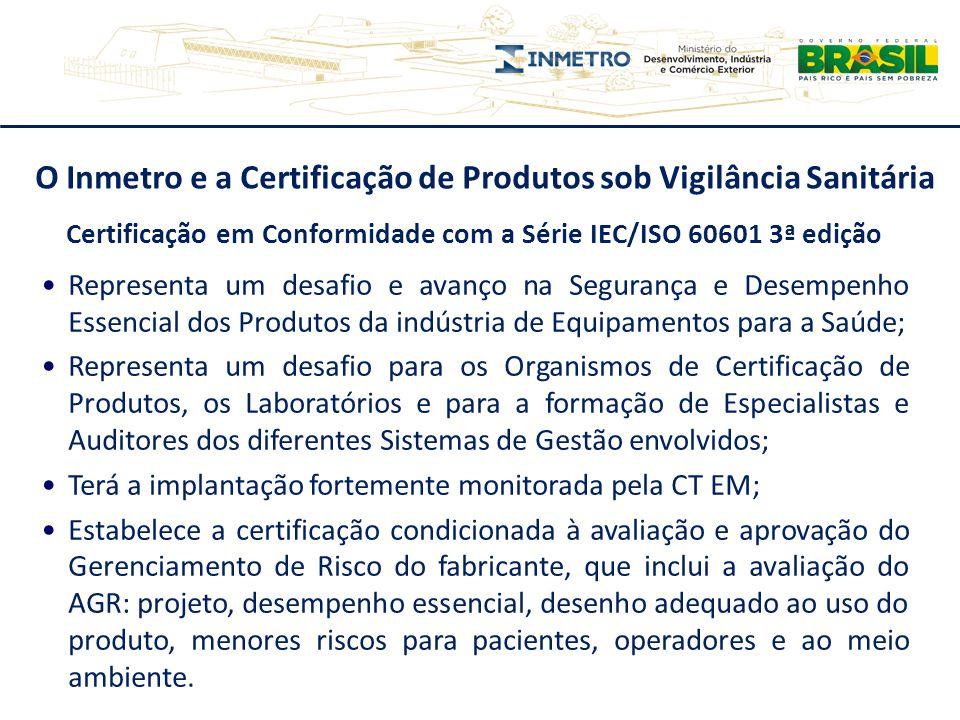 O Inmetro e a Certificação de Produtos sob Vigilância Sanitária Certificação em Conformidade com a Série IEC/ISO 60601 3ª edição Representa um desafio