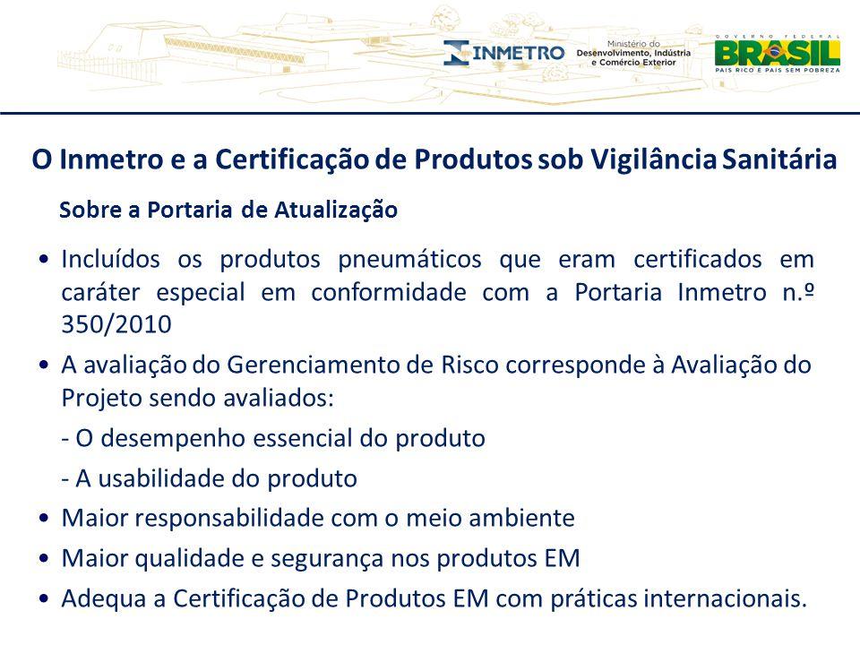 O Inmetro e a Certificação de Produtos sob Vigilância Sanitária Sobre a Portaria de Atualização Incluídos os produtos pneumáticos que eram certificado