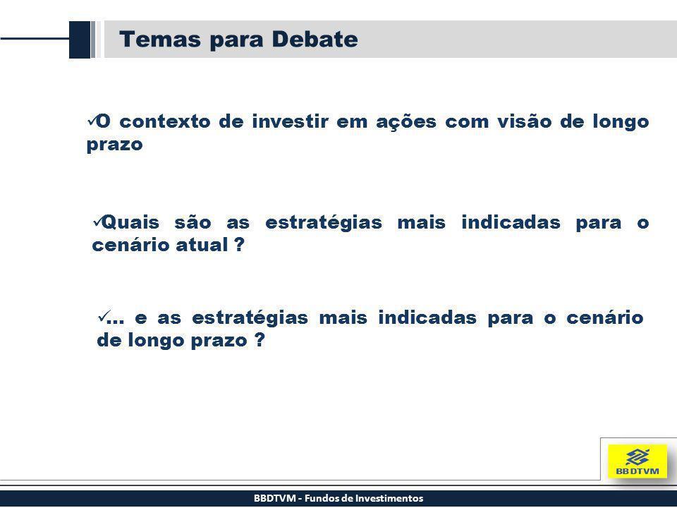 BBDTVM - Fundos de Investimentos Temas para Debate O contexto de investir em ações com visão de longo prazo Quais são as estratégias mais indicadas pa